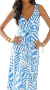 Bay Blue White Maxi Dress by Lilly Pulitzer Maxi