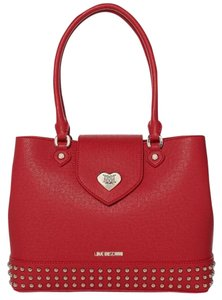 Love Moschino Black Sell Satchel in red