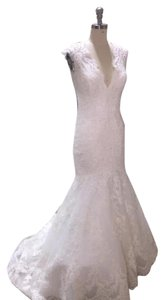 Allure Bridals Ivory Lace 9320 Vintage Wedding Dress Size 12 (L)