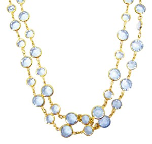 Chanel Vintage blue Crystal and Gold Plate 77