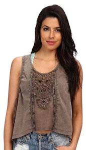 Free People Top Taupe