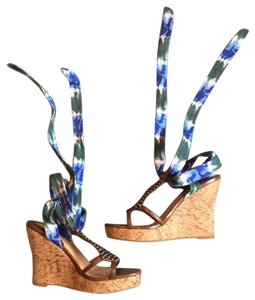 Colin Stuart Blue and green tie dye Wedges