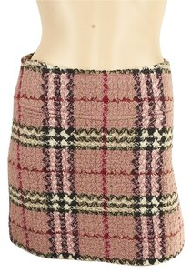 Burberry Mini Wool Mini Skirt Pink