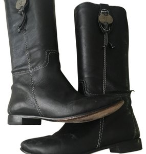 True Religion Black Boots