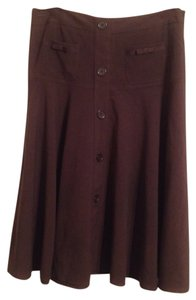Larry Levine Skirt Brown