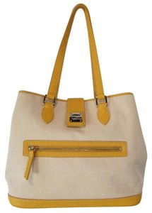 Dooney & Bourke Canvas Purse Tote in Yellow