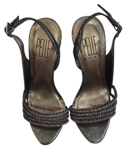Pelle Moda Evening Evening Sandals Sandals High Heel Sandals pewter Formal