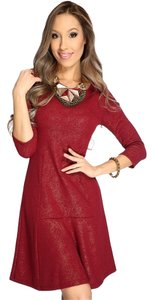 Purple Rain short dress Burgundy on Tradesy