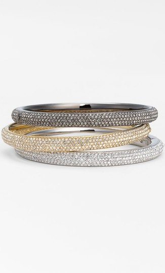 Nadri Nadri Pav Bangle in Grey/Clear
