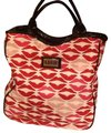 Lulu Guinness Tote in White- Pink - Red