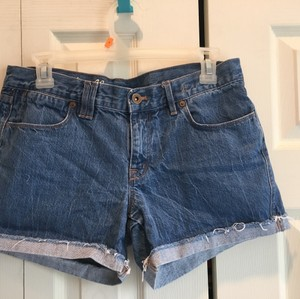 Madewell Cuffed Shorts Blue