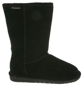 Bearpaw Suede Sheepskin Brown Winter Tall Length black Boots