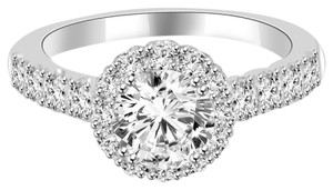 Avi and Co 2.84 cttw EGL Certified Round Cut Diamond Halo Engagement Ring 18K White Gold