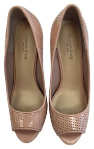 Elizabeth Brady new york Peep Toe Nude Pumps