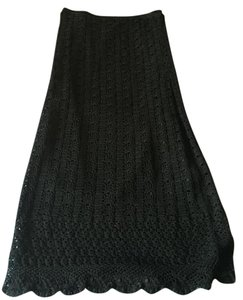 Cynthia Steffe Crochet Skirt Black