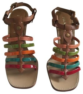 Prada Brown with multicolor straps Pumps