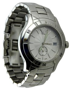 Versace * Versace Men's Hurricane ULQ99 Silver-Tone Bracelet Watch 40mm