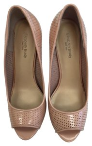 elizabeth brady new york High Heel Peep Toe nude Pumps