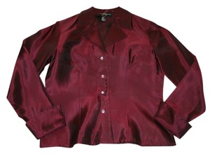 JS Collections Js Cocktail Crystal Buttons Top Maroon