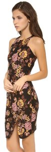 Elizabeth and James Racer-back Bodycon Sheath Stretchy Floral Dress