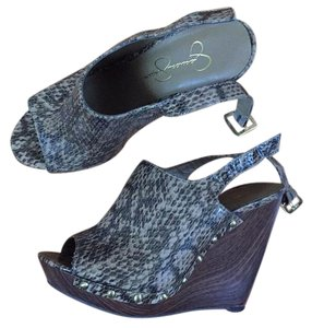 Jessica Simpson Snake Skin Wedges