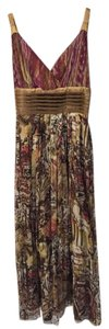 Sugarlips 100% Silk Bohemian Maxi Sleeveless Invisible Side Zip Dress