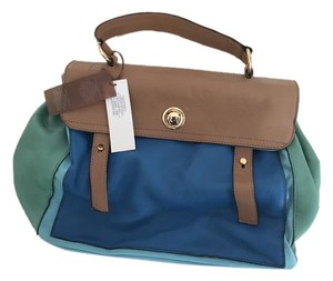 Dimoni Nwt Lightweight Satchel in multi blues and greens