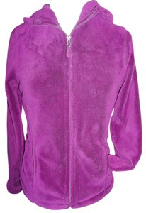 Danskin Micro Fleece Full Zip Hooded Small 4/6 Violet Jacket