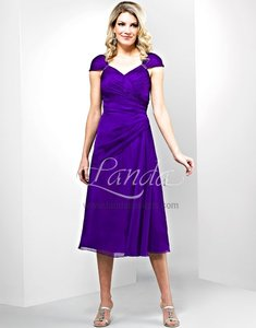 Landa Designs Purple Dress