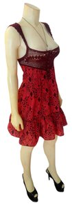 Free People short dress red, brown P2039 Summer Red on Tradesy