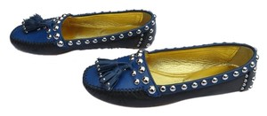 Prada Studded Colorblock Blue/Black Flats