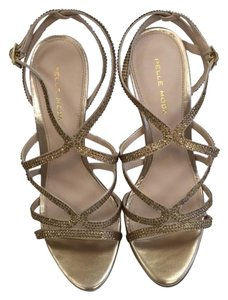 Pelle Moda Evening Evening Sandals Sandals Go Out Platinum Gold Formal