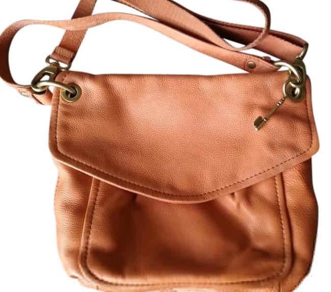 Item - Orange Leather Shoulder Bag