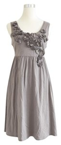 Garnet Hill short dress Grey Cotton Floral on Tradesy