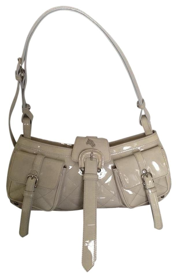 2c012410659d Burberry Quilted Cream  Beige Patent Leather Shoulder Bag - Tradesy