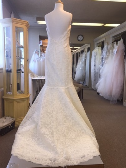 Tara Keely Ivory Alencon and Venise Lace 2411 Wedding Dress Size 6 (S)