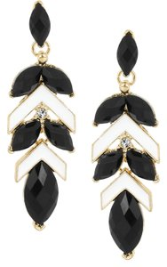 Kenneth Jay Lane Gold-plated resin and crystal earrings