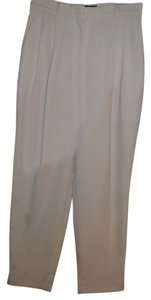 Focus 2000 Cream Pleated Micro-mini Basic Trouser Pants ivory