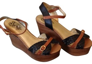 Seychelles Brown and blue Wedges