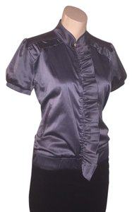 Arden B. Bomber Ruffle Charcoal Spring charcoal gray Jacket