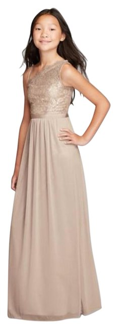 Item - Metallic Gold Jb9014m Formal Bridesmaid/Mob Dress Size 12 (L)