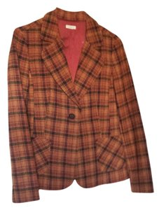 Halogen Autumn Toned Plaid Blazer
