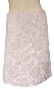 Other Gold Brocade Metallic Straight Skirt