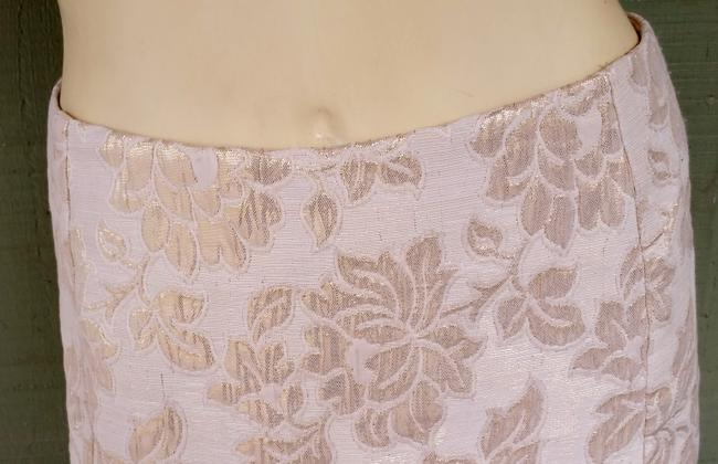 Other Brocade Metallic Straight Skirt Gold