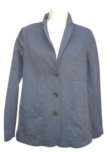 Vince Cotton Wool 3-button Blue Blazer