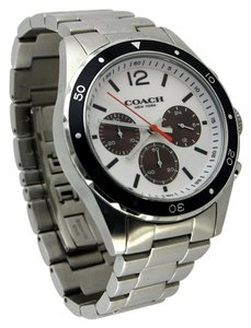 Coach * Coach Men's Brushed Silver-Tone Stainless Steel Chronograph Watch