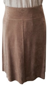 Studio M Faux Leather Skirt Camel