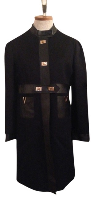 Preload https://item1.tradesy.com/images/valentino-black-wool-leather-trim-turnlock-pea-coat-size-6-s-1517975-0-0.jpg?width=400&height=650