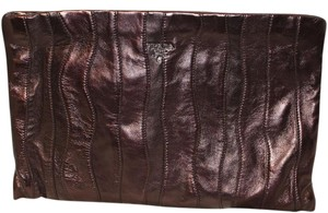 Prada Leather Classic Embellished Eggplant Clutch