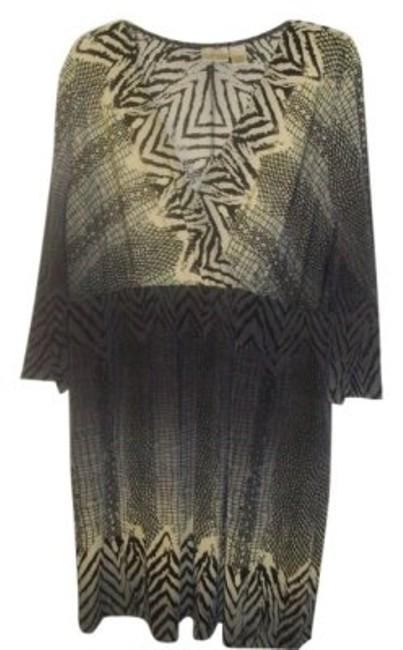 Preload https://item2.tradesy.com/images/chico-s-creme-gray-and-black-tunic-snake-print-design-above-knee-short-casual-dress-size-16-xl-plus--15181-0-0.jpg?width=400&height=650